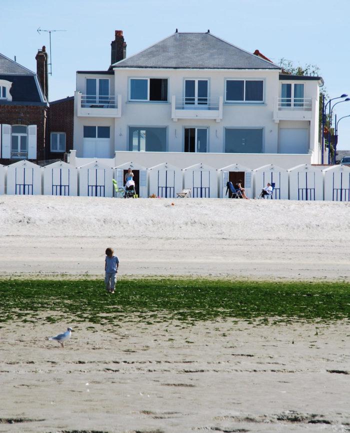 La maison de l'Occident vue de la plage, location saisonnière en Baie de Somme