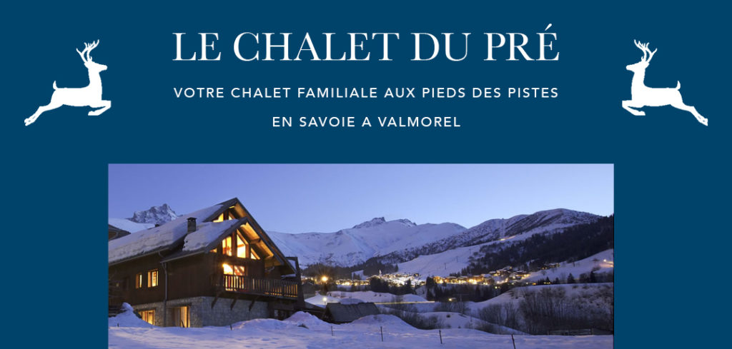 Le Chalet du Pré, your family wood cottage in the ski station of Valmorel in Savoie