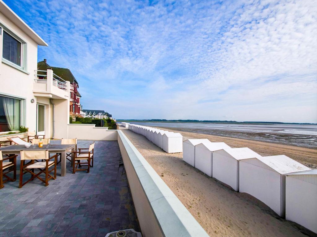 La terrasse et la vue de l'Occident, maison de location saisonnière en Baie de Somme