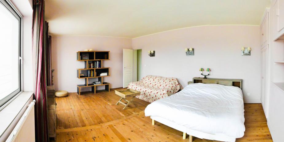 La grande chambre l'Occident, maison de location saisonnière en Baie de Somme.